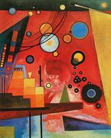 PGM Wassily Kandinsky - Schweres Rot Kunstdruk 60x80cm