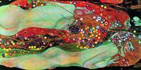 PGM Gustav Klimt - Wasserschlangen II Kunstdruk 100x50cm