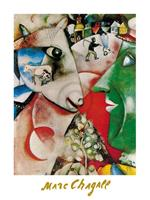 PGM Marc Chagall - I and the village, 1911 Kunstdruk 60x80cm