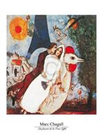 PGM Marc Chagall - Les fiances Kunstdruk 60x80cm
