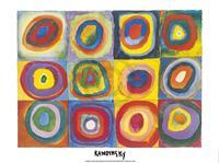 PGM Wassily Kandinsky - Farbstudie Quadrate Kunstdruk 80x60cm