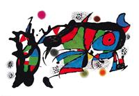 PGM Joan Miro - Obra de Joan Miro Kunstdruk 100x70cm