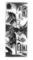 PGM M. C. Escher - Oben und Unten Kunstdruk 45x79cm