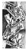 PGM M. C. Escher - Treppenhaus Kunstdruk 45x79cm