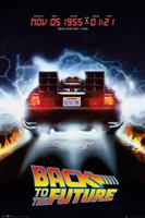 GBeye Back To The Future Delorean Poster 61x91,5cm