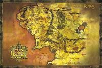 GBeye Lord of the Rings Classic Map Poster 91,5x61cm