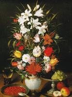 PGM Pieter D. J. Brueghel - Vaso ornato di fiori Kunstdruk 60x80cm