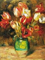PGM Auguste Renoir - Tulips in a Vase Kunstdruk 60x80cm