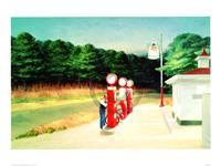 PGM Edward Hopper - Gas 1940 Kunstdruk 80x60cm