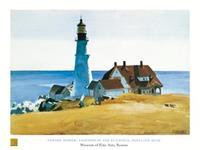 PGM Edward Hopper - Lighthouse and Buildings Kunstdruk 80x60cm