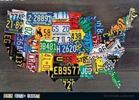 PGM Aaron Foster - USA Map II Kunstdruk 91x66cm