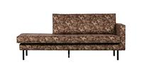 BePureHome Rodeo Daybed Right Velvet Bouquet Chestnut