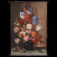 Wants&Needs Wanddoek Flowers Velvet Multi 105 X 136