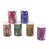Top1Toys Spaarpot Met Eurobiljet Opdruk 6 Assorti