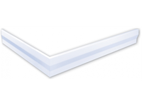 polysan hoekpaneel voor Varesa en Karia douchebakken 120x90x11cm rechts