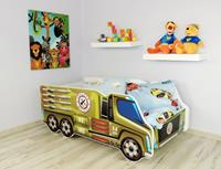 topbeds Peuterbed Top Beds Truck 140x70 Army Inclusief Matras