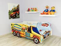 topbeds Peuterbed Top Beds Truck 140x70 Cement Mixer Inclusief Matras