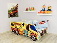 topbeds Peuterbed Top Beds Truck 140x70 Kraanwagen Inclusief Matras