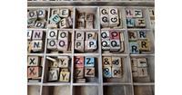 Warentuin over Zee Losse Scrabble letters x5