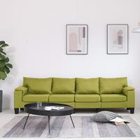 vidaXL Vierzitsbank stof groen