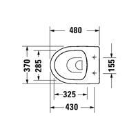 Duravit Durastyle closet staand 370x400x480mm diepsp rimless wit 02184090000