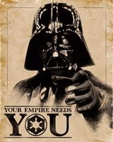 Pyramid Star Wars Classic Your Empire Needs You Poster 40x50cm