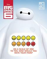 Pyramid Big Hero 6 Rate Your Pain Poster 40x50cm