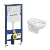 geberit UP100 toiletset met Mueller Saturnus toilet en zitting