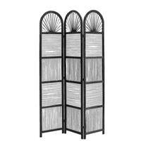 Leen Bakker Kamerscherm Milan - zwart - 180x120x2,5 cm