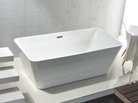 Bewonen Quadro vrijstaand bad acryl 180x80cm rechthoekig wit