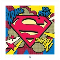 Pyramid Superman Pop Art Shield Kunstdruk 40x40cm