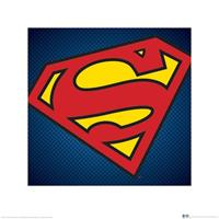 Pyramid DC Comics Superman Symbol Kunstdruk 40x40cm