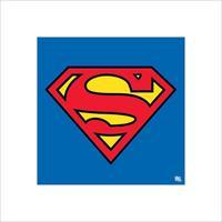 Pyramid Superman Classic Logo Kunstdruk 40x40cm