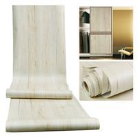 Garderobemeubilair PVC Waterdichte aangroeiwerende houtnerf Zelfklevende stickers, specificatie: 60cm x 5m (witte esdoorn)