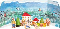 Small Foot adventskalender Winter 45 x 4,5 cm karton blauw