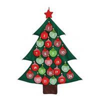 Bellatio Decorations Kerstboom adventskalender vilt kerstversiering 95 cm -