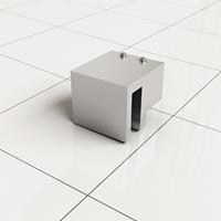 Douche Concurrent Stabilisatiestang Haakse Glaskoppeling Slim Chroom