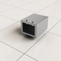 Douche Concurrent Stabilisatiestang Muurkoppeling Slim Vierkant RVS-Look