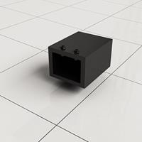 Douche Concurrent Stabilisatiestang Muurkoppeling Slim Vierkant Mat Zwart