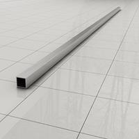 Douche Concurrent Stabilisatiestang Slim Los 120cm Vierkant RVS-Look