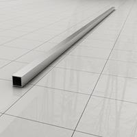 Douche Concurrent Stabilisatiestang Slim Los 120cm Vierkant Chroom