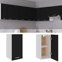 vidaXL Hangkast 29,5x31x60 cm spaanplaat zwart