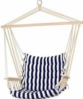Valetti blauw/wit gestreepte hangstoel