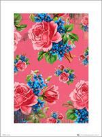 GBeye Vintage Flowers Pink Kunstdruk