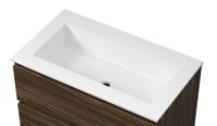 Bewonen Elegant meubelwastafel 80x46cm - mat-wit - Polystone - zonder kraangat
