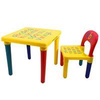 Decopatent ABC Alfabet Kindertafel met Stoel - Speeltafel - Kindertafel en stoeltjes - 1x Tafel en 1x Stoel voor kinderen