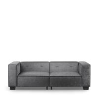 Rivièra Maison 3,5-zits Bank 'Hampton Heights' Velvet, kleur Rock Grey