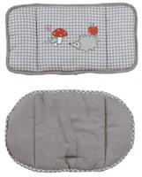 Roba stoelverkleiner Adam & Owl polyester grijs/rood 2 delig