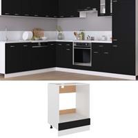 vidaXL Ovenkast 60x46x81,5 cm spaanplaat zwart