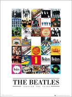 GBeye The Beatles Through The Years Kunstdruk 50x70cm